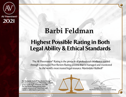 Barbi Feldman Highest Possible Rating Badge