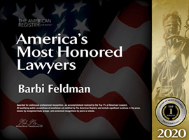 Barbi Feldman Most Honored Lawyers Badge