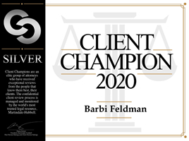 Barbi Feldman Client 2020 Champion 2020 Badge